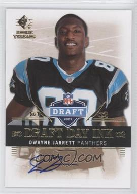 2007 SP Rookie Threads - Draft Day Ink #DDI-DJ - Dwayne Jarrett