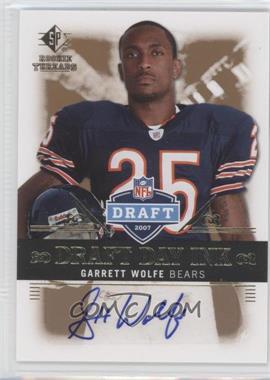 2007 SP Rookie Threads - Draft Day Ink #DDI-GW - Garrett Wolfe