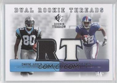 2007 SP Rookie Threads - Dual Rookie Threads #DRT-SD - Dwayne Jarrett, Steve Smith