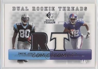 2007 SP Rookie Threads - Dual Rookie Threads #DRT-SD - Dwayne Jarrett, Steve Smith