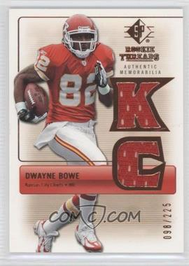 2007 SP Rookie Threads - Rookie Threads - Bronze #RT-DB - Dwayne Bowe /225