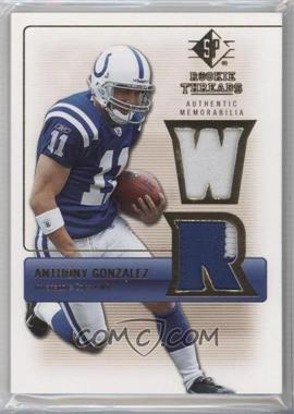 2007 SP Rookie Threads - Rookie Threads - Gold #RT-AG - Anthony Gonzalez