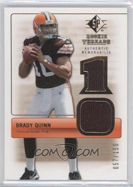 2007 SP Rookie Threads - Rookie Threads - Gold #RT-BQ - Brady Quinn /150