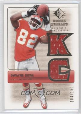 2007 SP Rookie Threads - Rookie Threads - Gold #RT-DB2 - Dwayne Bowe /150