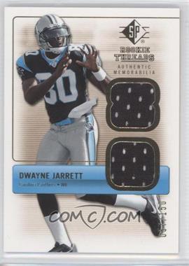 2007 SP Rookie Threads - Rookie Threads - Gold #RT-DJ - Dwayne Jarrett /150
