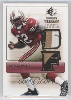 2007 SP Rookie Threads - Rookie Threads - Gold #RT-PW - Patrick Willis