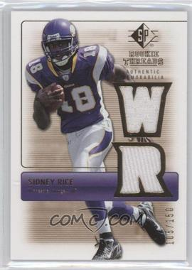 2007 SP Rookie Threads - Rookie Threads - Gold #RT-SR - Sidney Rice /150
