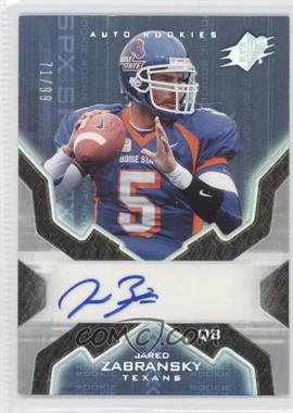 2007 SPx - [Base] - Rookies Silver Holofoil #178 - Jared Zabransky /99