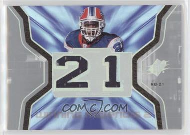 2007 SPx - Winning Materials - Jersey Number Dual #WM-WM - Willis McGahee