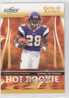 2007 Score - Hot Rookie - Gold Zone #HR-3 - Adrian Peterson /600