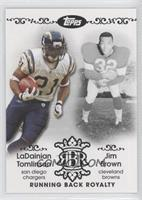 LaDainian Tomlinson, Jim Brown