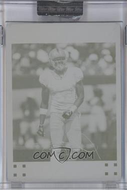 2007 Topps Chrome - [Base] - Printing Plate Yellow #TC27 - Plaxico Burress /1
