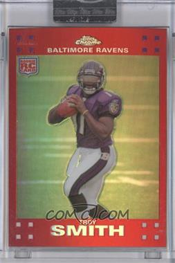 2007 Topps Chrome - [Base] - Red Refractor #TC169 - Troy Smith /139