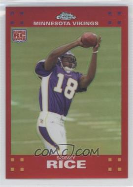 2007 Topps Chrome - [Base] - Red Refractor #TC204 - Sidney Rice /139