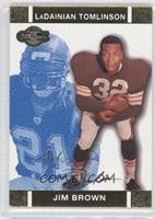 Jim Brown, LaDainian Tomlinson #/349