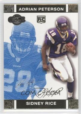 2007 Topps Co-Signers - [Base] - Blue Changing Faces Gold #88.2 - Sidney Rice, Adrian Peterson /349