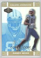 Randy Moss, Calvin Johnson #/25