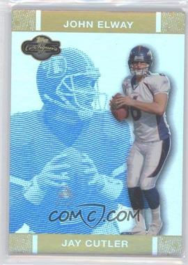 2007 Topps Co-Signers - [Base] - Blue Changing Faces Hyper Gold #9 - Jay Cutler /25
