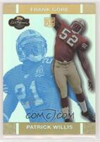 Patrick Willis, Frank Gore [Noted] #/25