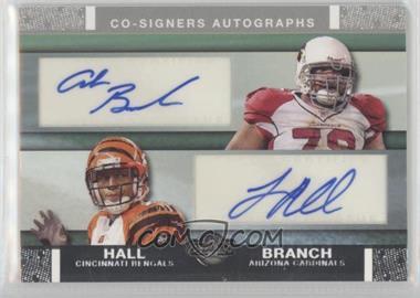 2007 Topps Co-Signers - Dual Autographs #CSA-BHA - Leon Hall, Alan Branch