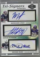 Marshawn Lynch, Adrian Peterson, Michael Bush /15