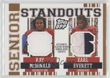 2007 Topps Draft Picks and Prospects (DPP) - Senior Standouts Senior Bowl Combo Relics - Prime #SSCR-ME - Earl Everett, Ray McDonald /49