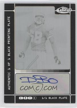 2007 Topps Finest - [Base] - Rookie Autographs Framed Printing Plate Black [Autographed] #128 - Dwayne Bowe /1