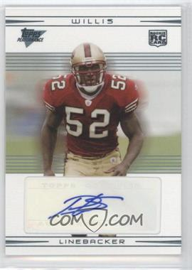 2007 Topps Performance - [Base] - Rookie Autographs [Autographed] #132 - Patrick Willis