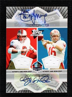 2007 Topps Performance - Hall of Fame Quad Relic Autographs #HFQRA5 - Joe Montana, Steve Young, Troy Aikman, Roger Staubach /10
