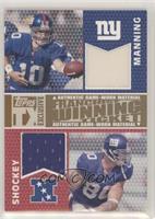 Eli Manning, Jeremy Shockey #/49