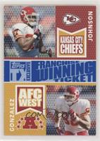 Larry Johnson, Tony Gonzalez #/149