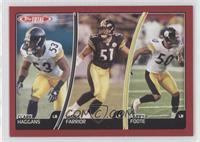 Clark Haggans, James Farrior, Larry Foote