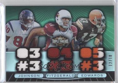 2007 Topps Triple Threads - Relic Combos - Emerald #TTRC80 - Andre Johnson, Larry Fitzgerald, Braylon Edwards /18