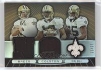 Drew Brees, Marques Colston, Reggie Bush #/27