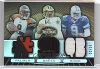 Carson Palmer, Drew Brees, Tony Romo #/27