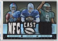 Eli Manning, Tony Romo, Donovan McNabb /27