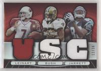 Reggie Bush, Dwayne Jarrett, Matt Leinart #/36