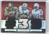 Willie Parker, Steven Jackson, Laurence Maroney #/36