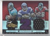 Fred Taylor, Adrian Peterson, Warrick Dunn #/36