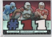 Larry Fitzgerald, Alex Smith, Roy Williams #/36