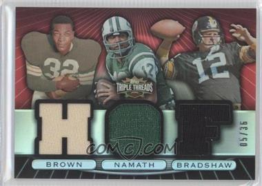 2007 Topps Triple Threads - Relic Combos #TTRC84 - Jim Brown, Joe Namath, Terry Bradshaw /36