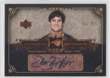 2007 UD Premier - Insignias Autographs - Bronze #IN-BE - Drew Bennett /75
