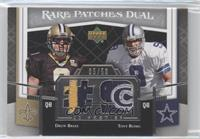Drew Brees, Tony Romo /50