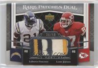 Larry Johnson, LaDainian Tomlinson #/50