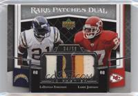 Larry Johnson, LaDainian Tomlinson [Noted] #/50