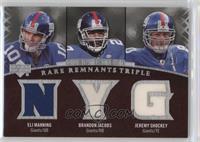 Brandon Jacobs, Jeremy Shockey, Eli Manning /50