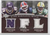 Adrian Peterson, Brandon Jackson, Marshawn Lynch #/50