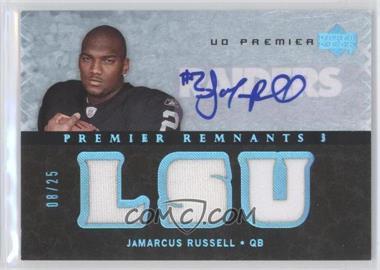 2007 UD Premier - Remnants 3 - Platinum Autographs [Autographed] #PR3-JR - JaMarcus Russell /25