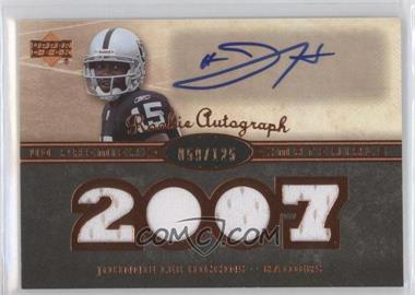 2007 UD Premier - Rookie Autographed Materials - Bronze #141 - Johnnie Lee Higgins /125