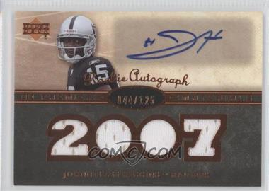 2007 UD Premier - Rookie Autographed Materials - Bronze #141 - Johnnie Lee Higgins /125